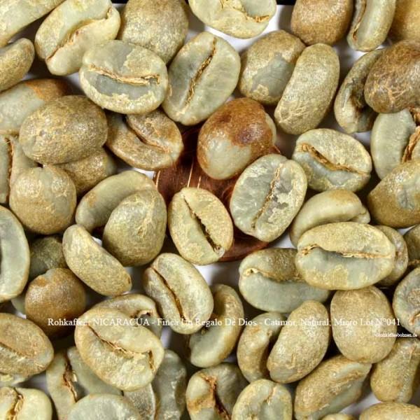 Rohkaffee: NICARACUA - Finca Un Regalo De Dios - Catimor, Natural; Micro Lot N°041 ©rohkaffeebohnen.de