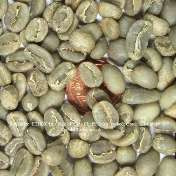 ETHIOPIA - Pick of Yirga Cheffe, Rekowashed, Grade.1; MicrolotN°367