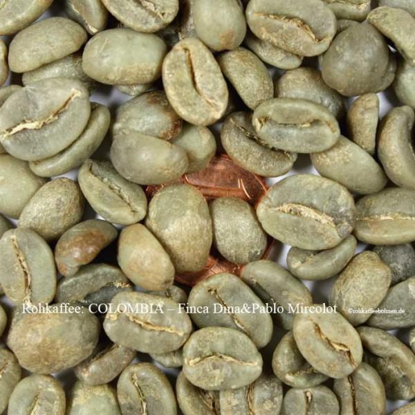 Rohkaffee-Colombia Finca Dina+pablo, Mircolot -rohkaffeebohnen.de